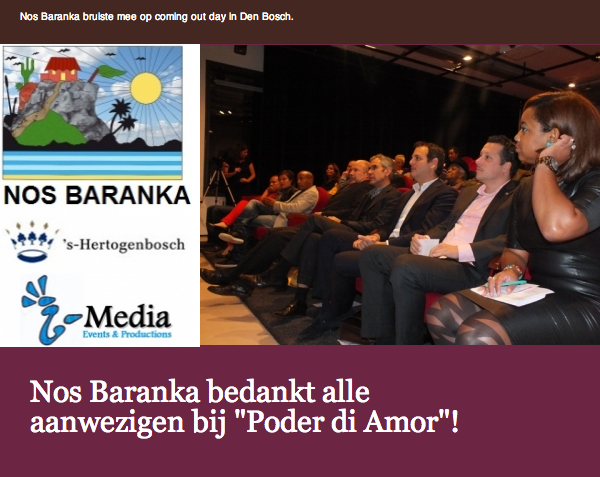 Nos Baranka bedankt aanwezigen Poder di Amor + Foto's