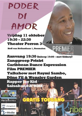 Prisiri zingt tijdens Poder di Amor