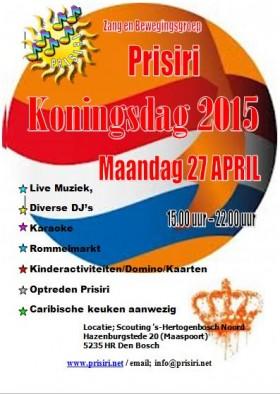 Koningsdag 2015 met Prisiri